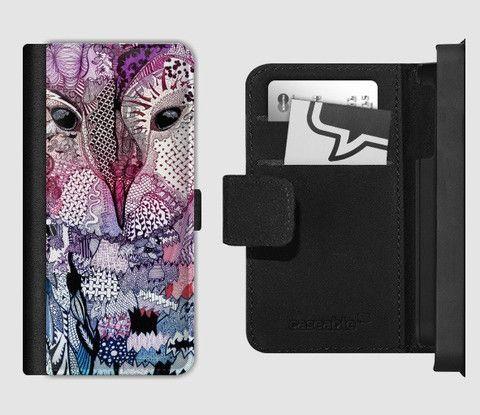 Flip Wallet Phone Case Pink/Purple Owl – Samuel J Art