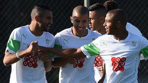 Image de algerie, riyad mahrez, and feghouli