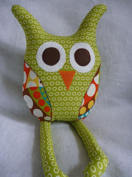Owl Pillow with Rag Doll Legs