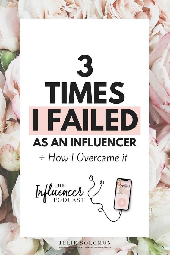 We all know that being an influencer comes with a lot of uncharted territories and that there isn't a magic guide. So, mistakes happen and it's a huge game of trial and error - at least that's how it's been for me! The Influencer Podcast, episode 01, 3 times I failed as an influencer and how I overcame it #TheInfluencerPodcast #JulieSolomon #fails #mistakes #influencermarketing #business #blogging