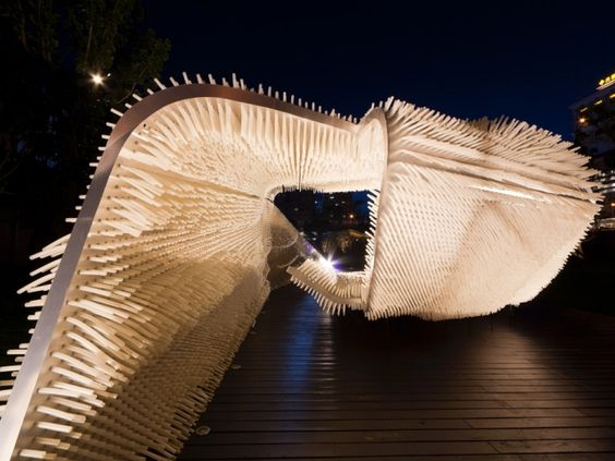 Anemone Installation  by Oyler Wu Collaborative  'Anemone is an art and architectural installation aimed at weaving aesthetic experience and tactile engagement – a …