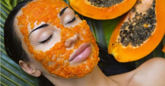 Papaya Face Mask  DIY Recipes For Fairer Glowing Acne Free Skin #FaceMoisturizerForOilySkin