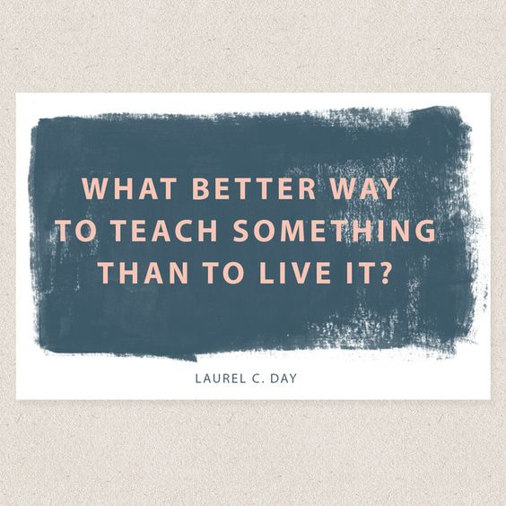 We love this quote from our TOFW presenter Laurel Day. On our blog, she shares what she learned by teaching.: