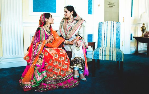 Love classy photographs! I want something candid like this with my mom. | candid Picture of Mom and Bride | Orange Bridal Lehenga | Punjabi Weddings | Mom and Bride Picture Ideas | Cute Bride and Mother Photo Ideas | Indian Wedding | Indian Brides | Function Mania | You Have to See These Picture-Perfect Mother & Bride Moments!