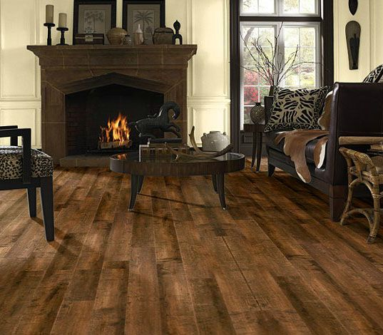 dark rustic rio grande valley oak laminate in a living room room