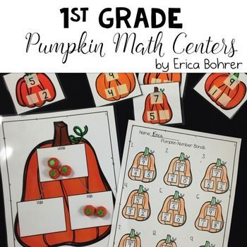 This pumpkin themed math packet is perfect for helping your first grade students master number bonds and facts through ten during pumpkin season. What's included:Pumpkin Seed Number Bond - Students will find the whole number using black and brown pumpkin seeds and a pumpkin themed ten frame work mat.