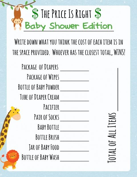 baby shower jungle theme baby showers game jungles baby shower games