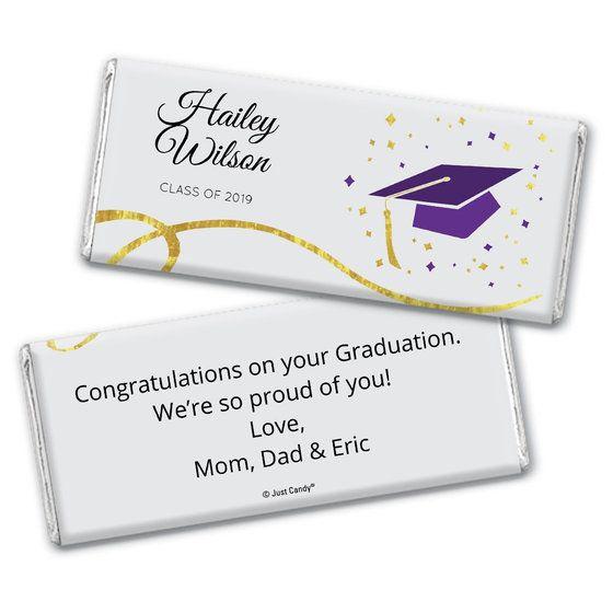 Class of 2019 Purple Glitter Graduation HERSHEY Candy Bar WRAPPER black Grad Graduation party Candy bar wrapper Graduation decor