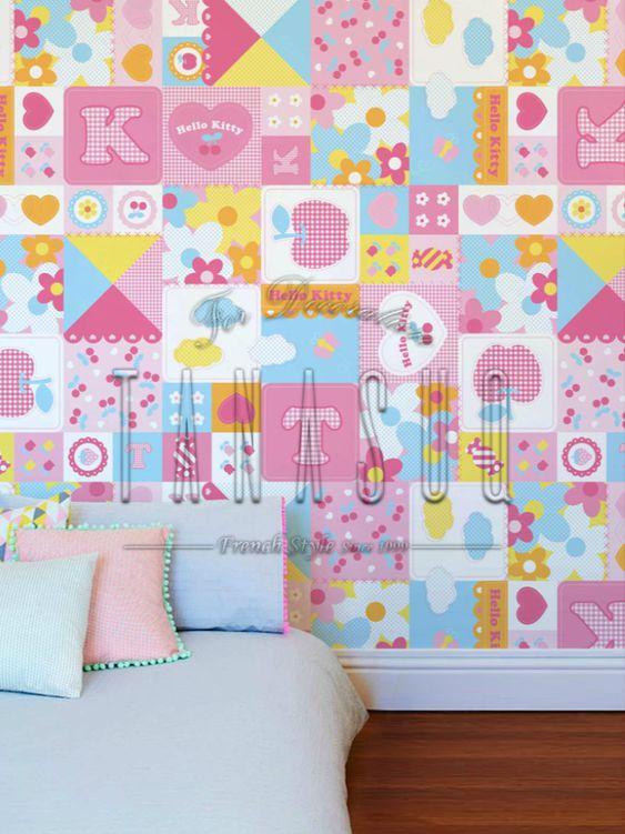 ورق حائط هيلو كيتي للاطفال Tanasuq In 2020 Bed Hello Kitty Blanket
