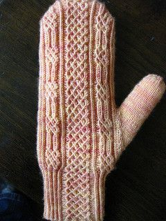 Ever want to try twisted sts? Here is a small pattern to practice! These mitts have optional instructions for lining them without bulk for really warm, cosy mitts. Ability to knit from charts - otherwise a pretty straight forward pattern. There may be an error in Chart B - on the first row - if you have a chart with a blank 'box' - it should be a purl st.