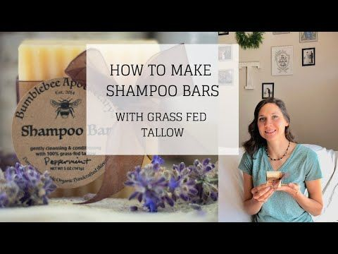 My Tallow Shampoo Bar Recipe Is One That I Absolutely Love It Took Me A Long Time To Come Up With A Truly N Shampoo Bar Recipe Shampoo Bar How To