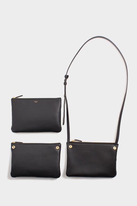 celine purse cost - C��line Trio Navy Black (Taken apart to show how it is used as a ...