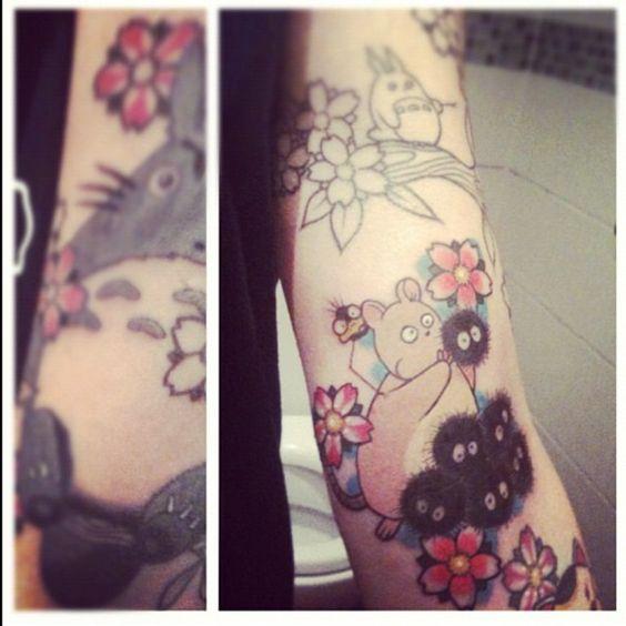 ghibli tattoos tattoo totoro miyazaki tatouage noiraude anime online manga tv legal gratuit 2. Black Bedroom Furniture Sets. Home Design Ideas