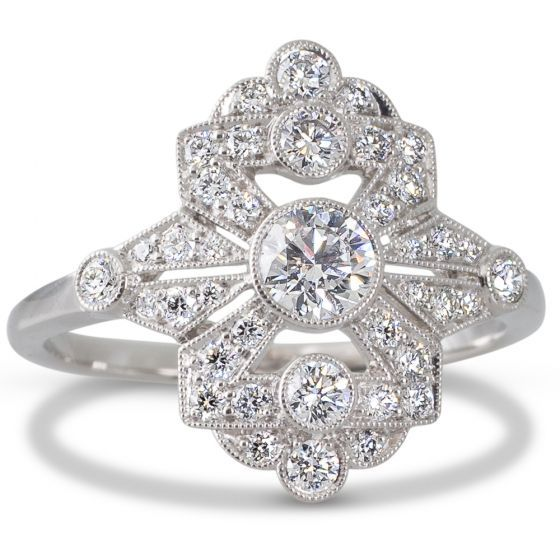 Pin On Art Deco Style Engagement Rings