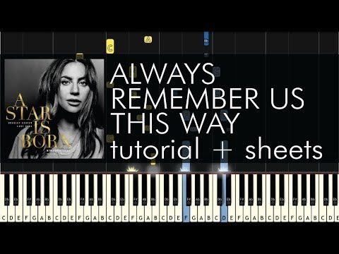 A Star Is Born Always Remember Us This Way Piano Tutorial