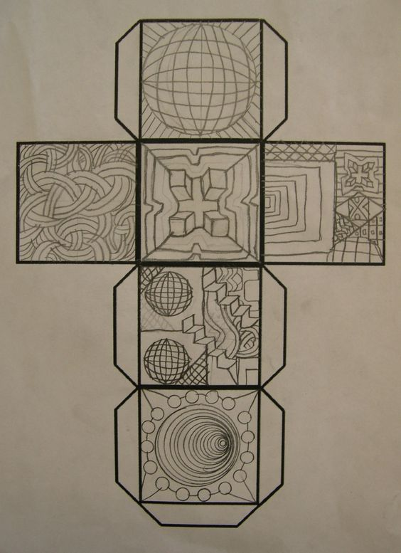 Line Art Lesson Plans : Art lesson gr op cube ideas