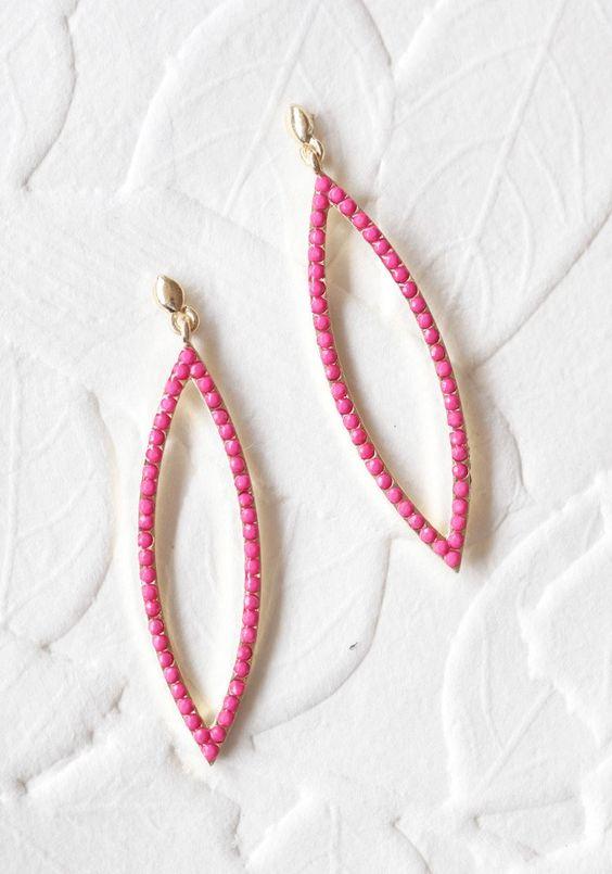 Pink Petal Earrings | Modern Vintage Earrings | Modern Vintage Jewelry