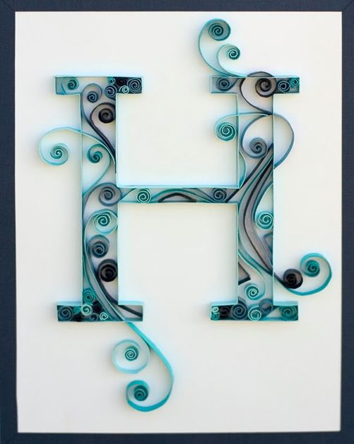 Always wanted to try quilling, a monogram seems like a good start!