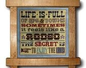 feels like a rodeo... by emilypeacocktapestry on etsy