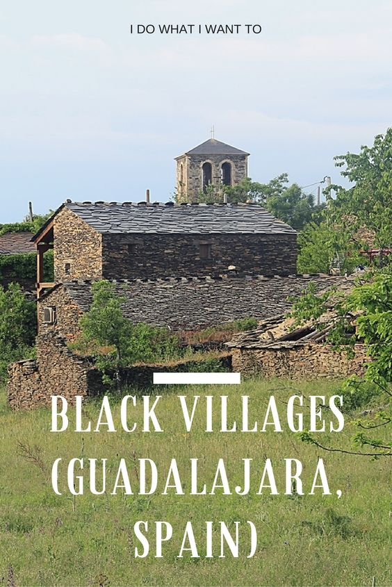 They call them the Black Villages, a group of villages in Guadalajara, Spain, with a characteristic architecture. A fabulous day trip!