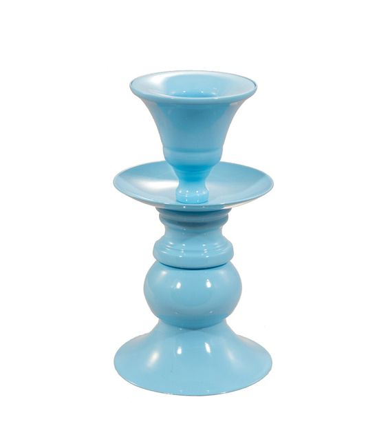 Pastel candle holders - small powder blue