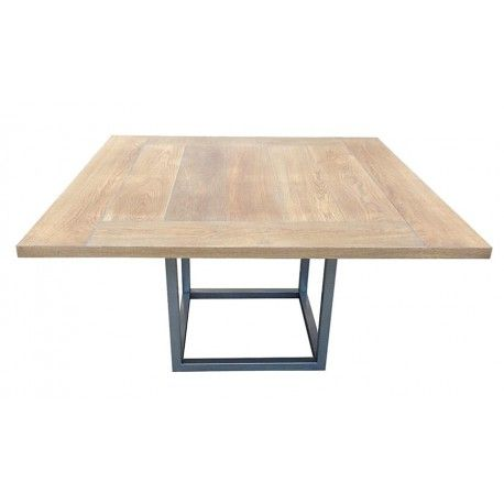 Table de salle manger design rallonges duetto megeve - Table carree avec rallonge design ...