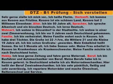 B1 Prufung Deutsch Lernen Sich Vorstellen Mundliche Prufung Teil 1 Youtube Deutsch Lernen Deutsche Sprache Mundliche Prufung