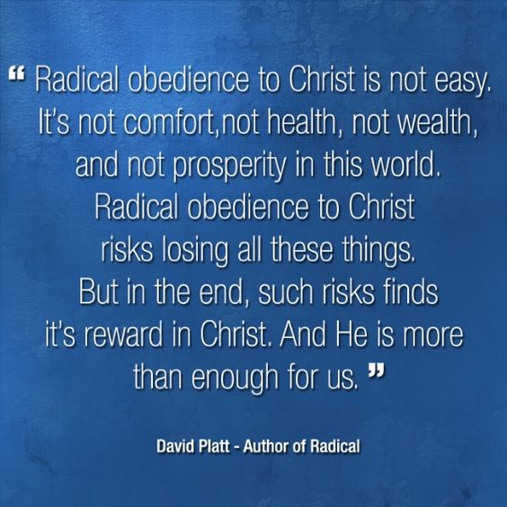 David Platt: but in the end, such risks finds it's reward in Christ.