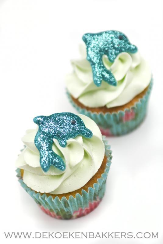 Dolfijnen cupcakes