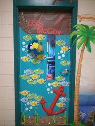 Ocean Life classroom Board Ideas | Sea Themed Door