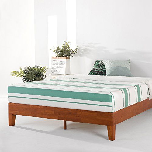 Mellow King 12 Solid Wood Platform Bed Frame W Grand Wooden Slat