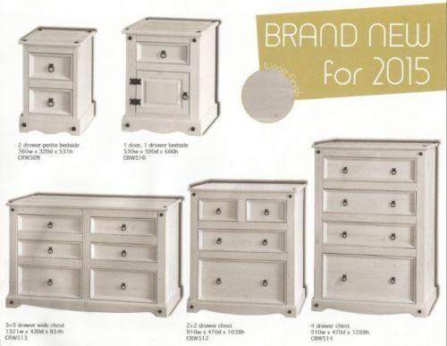 Premium Corona White Wash Bedroom Furniture 33 Drawer Chest
