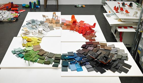 Ten years ago, designer Hella Jongerius began a research project for Swiss furniture company Vitra. As she parsed through decades of colors, shapes, textiles, and materials, Jongerius developed what has quickly become The Vitra Colour & Material Library.