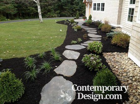 Gorgeous Black Mulch Landscaping Ideas Contemporary Design Mulch Landscaping Landscaping With Rocks Black Mulch