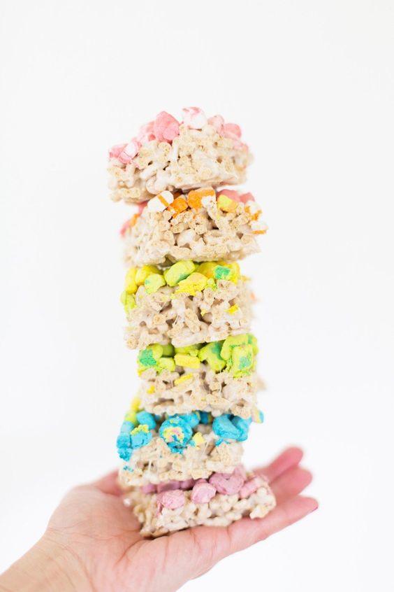 Lucky Charms Marshmallow Treats @LovelyIndeed