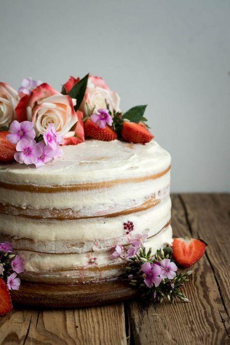 Vegan Vanilla And Berry Layer Cake