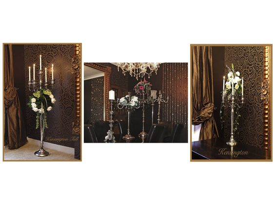 Our range of stunning candelabras available for hire, for info visit www.bejouled.co.uk
