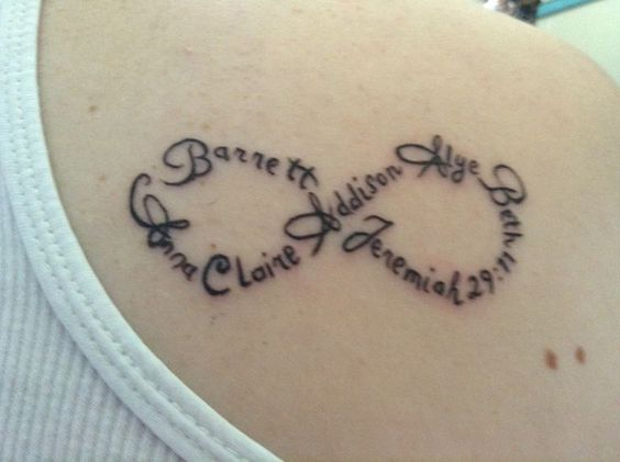45 infinity tattoo ideas tattoo ideas kid and child for Child of god tattoo