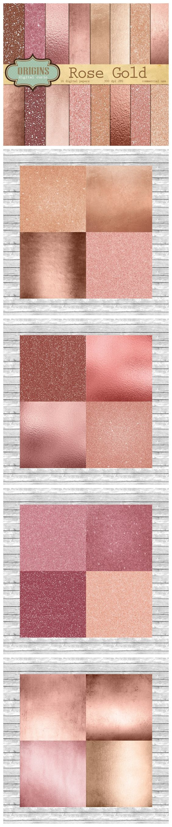 Rose Gold Digital Paper Rose Gold Rose Gold Color And