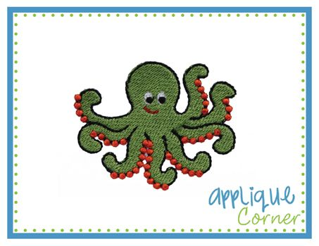 Octopus Filled Mini Embroidery Design