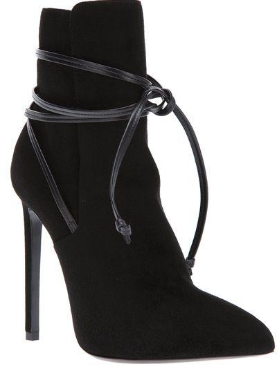 SAINT LAURENT 'Paris 100' Laced Ankle Boot