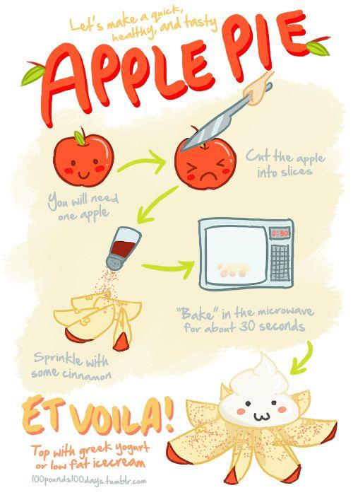 A nice mock apple pie recipe...healthy of course!