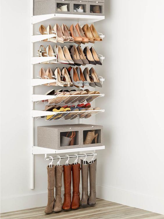 25 Space Saving Shoe Rack Ideas Page 7 Of 25 Lovein Home Shoe Storage Design Shoe Storage Shelf Closet Shoe Storage