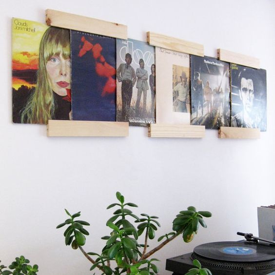 lp frames to turn your albums into art set of 3 salvaged wood modular