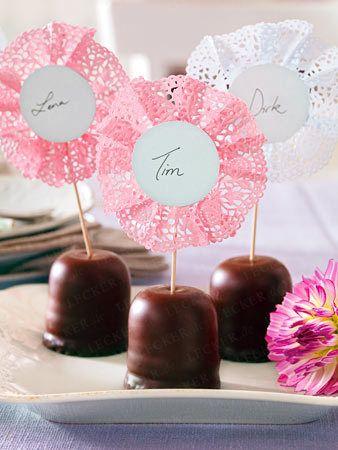 deko tischdeko candy bars tables and name cards. Black Bedroom Furniture Sets. Home Design Ideas