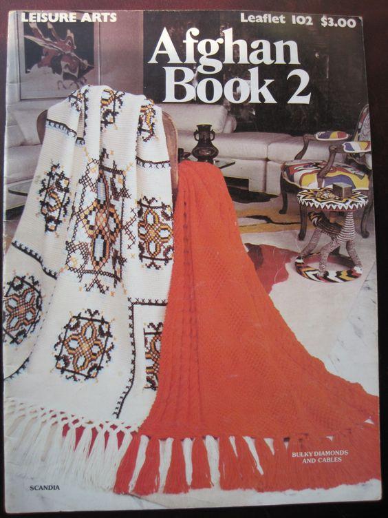 ❉ 👩🏼 ❉ Crochê e da Malha Afegã livro nº 2 Lazer por Kendall - / ❉ 👩🏼 ❉ Crochet  Hooks and Knit Afghan Book No. 2 Leisure by Kendall -
