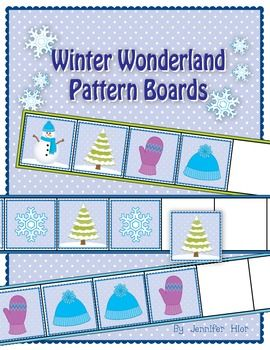 winter wonderland pattern boards for preschool and kindergarten what next patterns and target. Black Bedroom Furniture Sets. Home Design Ideas