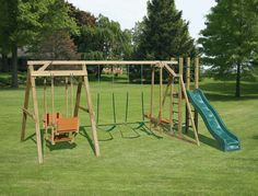 Swing sets are a great way to kids playing actively and safely. Description from homedesigning.xyz. I searched for this on bing.com/images
