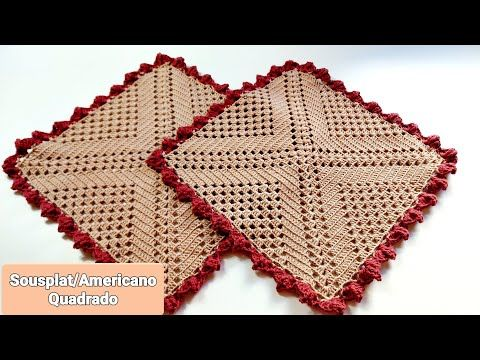 Americano Sousplat Quadrado Pink Artes Croche By Rosana Recchia Youtube Em 2020 Sousplat De Croche Quadrado Rede De Croche Jogo Americano De Croche