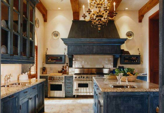 Beautiful rustic, yet clean lined kitchen